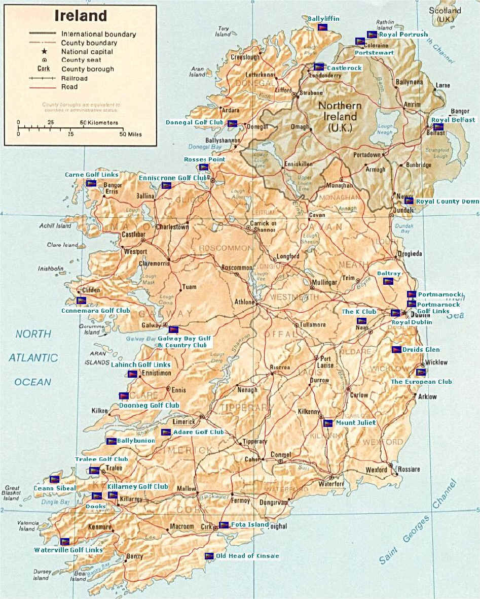 Images Of Map Of Ireland.Ireland Golf Map Of Golf Courses In Ireland Tralee Ireland